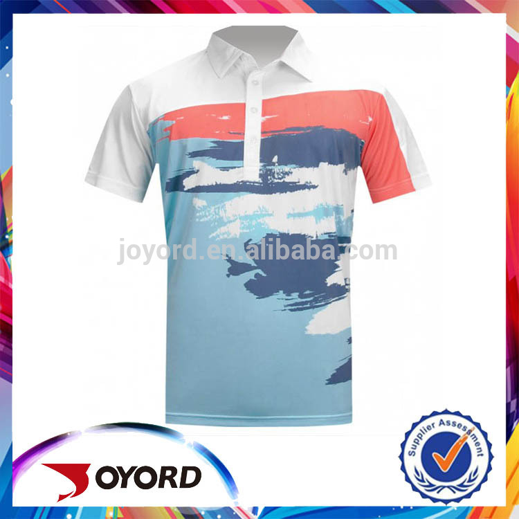 custom and digital printed mens polo shirt with high quality