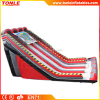 35' Giant inflatable The Edge Slide, dual lane Black Diamond Inflatable Slide sale