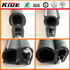 customized good quality EPDM rubber top bulb and sided bulb seal auto rubber trim