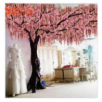 Romantic decoration large artificial blossom tree sakura branches artificial cherry trees