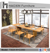 Simple and modern design long wood table & malaysia dining table set & school desk
