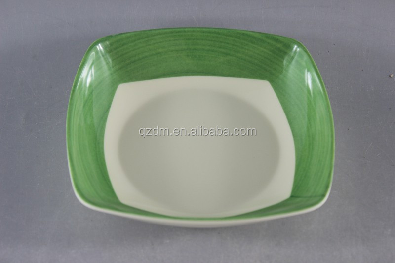 Square 8inch Melamine Deep Plate, Suop Dishes