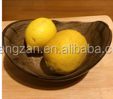 Gold Phoebe wood root carving whole natural wood without paint creative Japanese handmade wooden bowls fruit plate