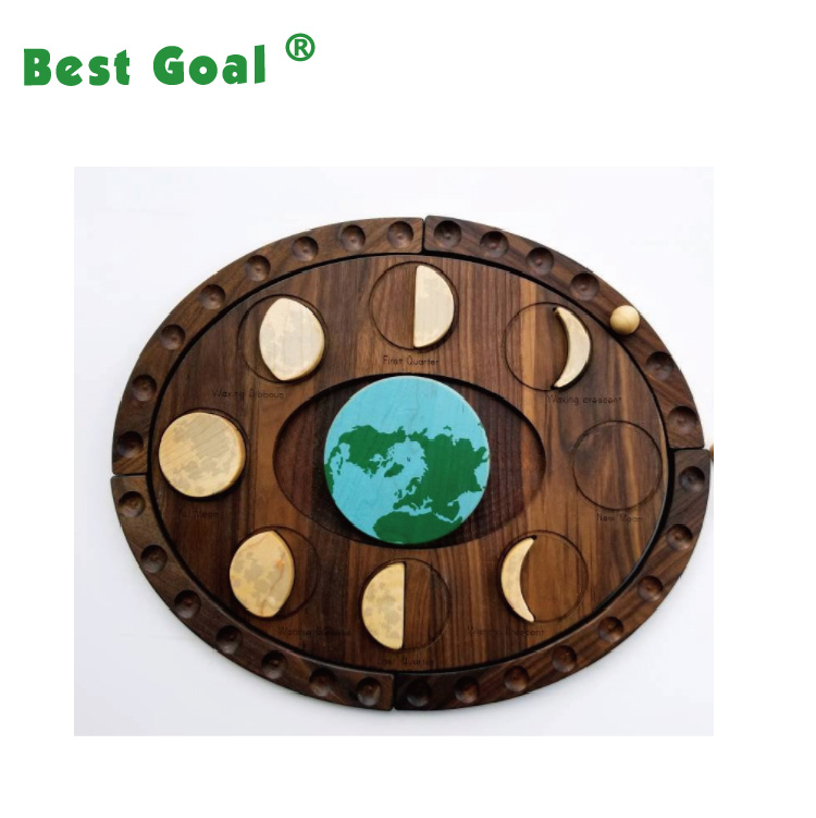 wooden Moon phases puzzle toys