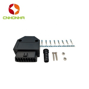 OBD2 16 Pin Female Connector Diagnostic OBD II Plug Adapter Connector With Full Pins Terminal