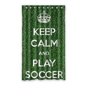 "Custom Soccer Blackout Panel Curtain Polyester 50""x84"" 1 Panel"