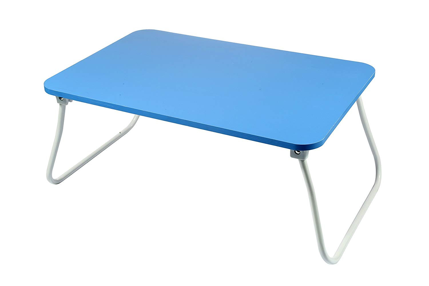 """Homebi Lap Desk Tray Table Laptop Stand Portable Bed Desk Breakfast Tray for Bed Couch and Sofa with MDF Top Board and Foldable Metal Legs (11.20""""H, Blue)"""