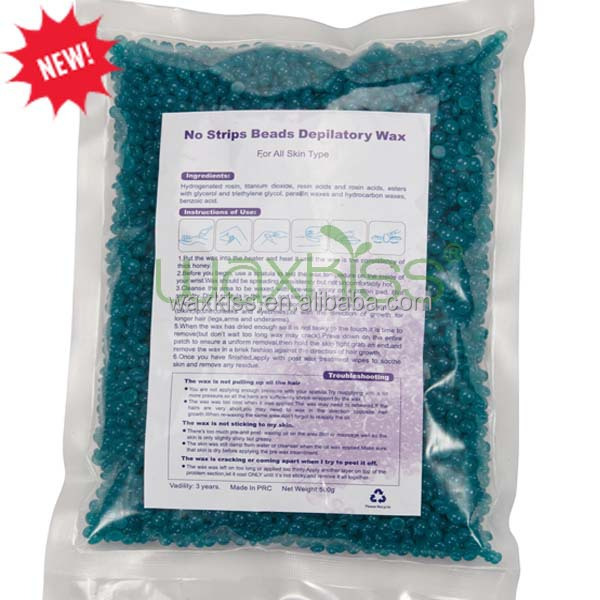 Low melting point stripless bead wax for hair removal