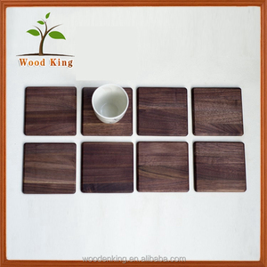 Alibaba Wholesale Contracted Fashion Walnut Cup Mat Hotel Supplies Custom Logo Wooden Placemat Material