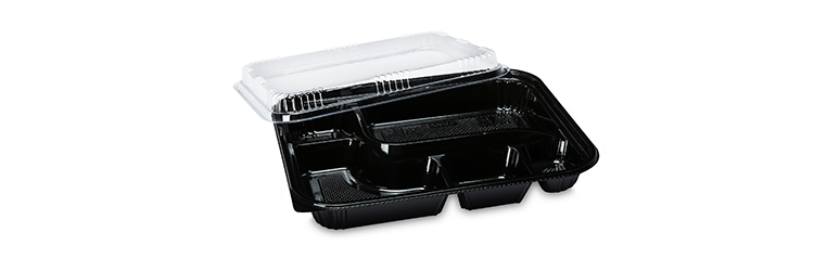 Restaurant food grade safety 5 compartment disposable food container