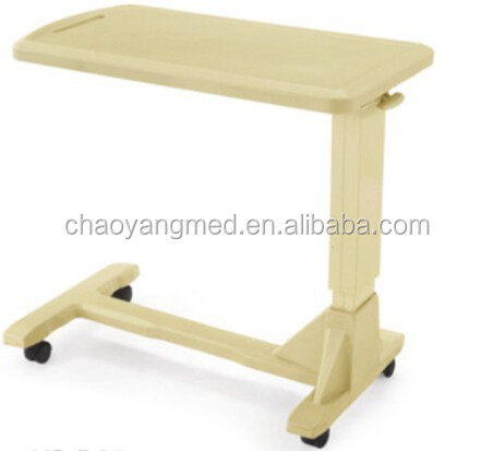 Hospital Bedside Tray Table/bedside Table With Wheels/hospital Over Bed  Table CY