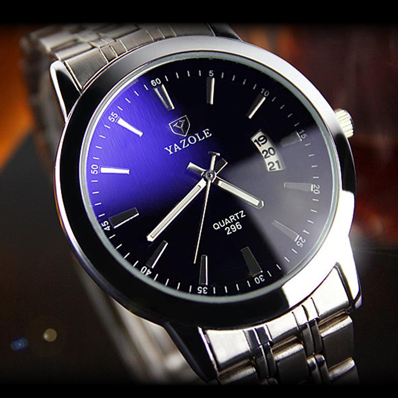296 Best seller Business Stainless steel back Quartz watch фото