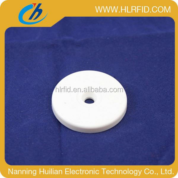 Waterproof RFID abs heat-resistance coin laundry tag with chip cod