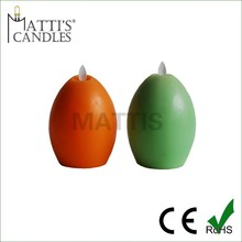 eggs smooth surface real wax flameless dancing flame led candle