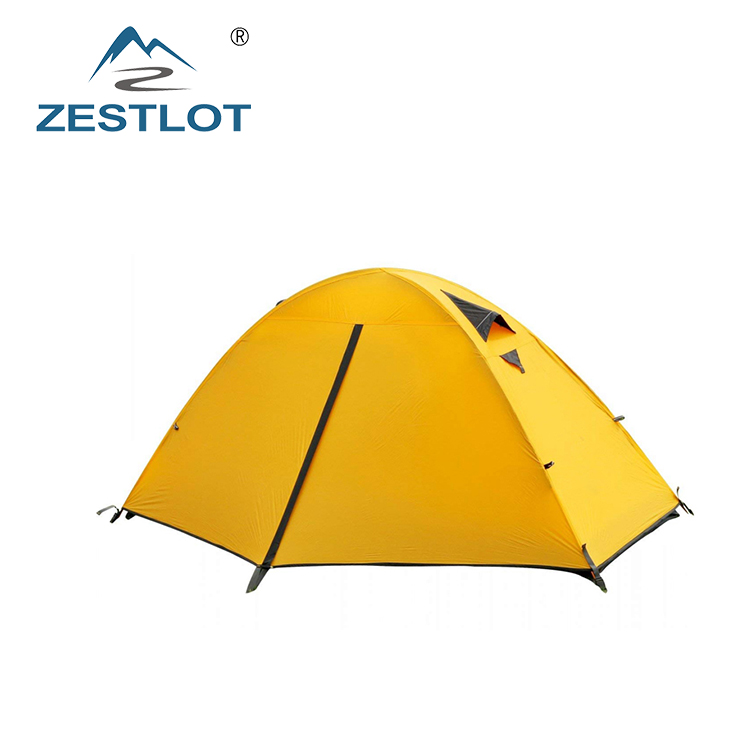 Custom 1 Persoon 3 seizoen 20D ultralight Waterdichte Dome Backpacken Tent Outdoor Camping Tent