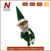 polyester cute doll christmas plush elf