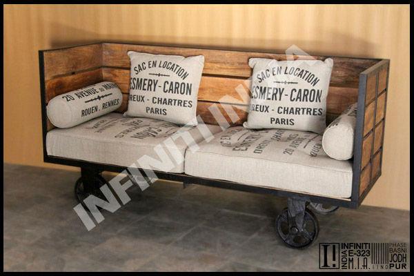 Industrial Vintage Daybed FurnitureIndustrial Furniture