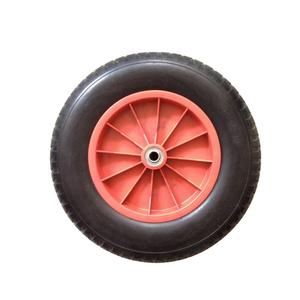 Good quality durable plastic rim 3.50-8 pu foam wheel