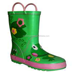 Newly designed colorful boy rubber outdoor boots