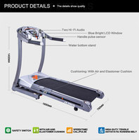 High quality Folding motorized fitness treadmill with MP3 for sale / homemade treadmill