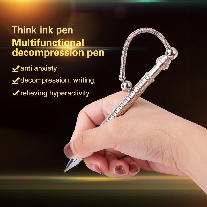 THINK INK PEN Magnet Metal Roller Pen Fidget Stress Decompression Toy**Free P/&P*