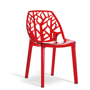 italian Modern China bulk hard virgin resin solid plastic injection fiber tree stacking chair for canteen party