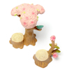 Resin Cherry Tree Stump Ornament Fairy Craft Garden Decor For Sale