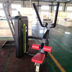 Seated lat pull down machine and muscle training fitness equipment