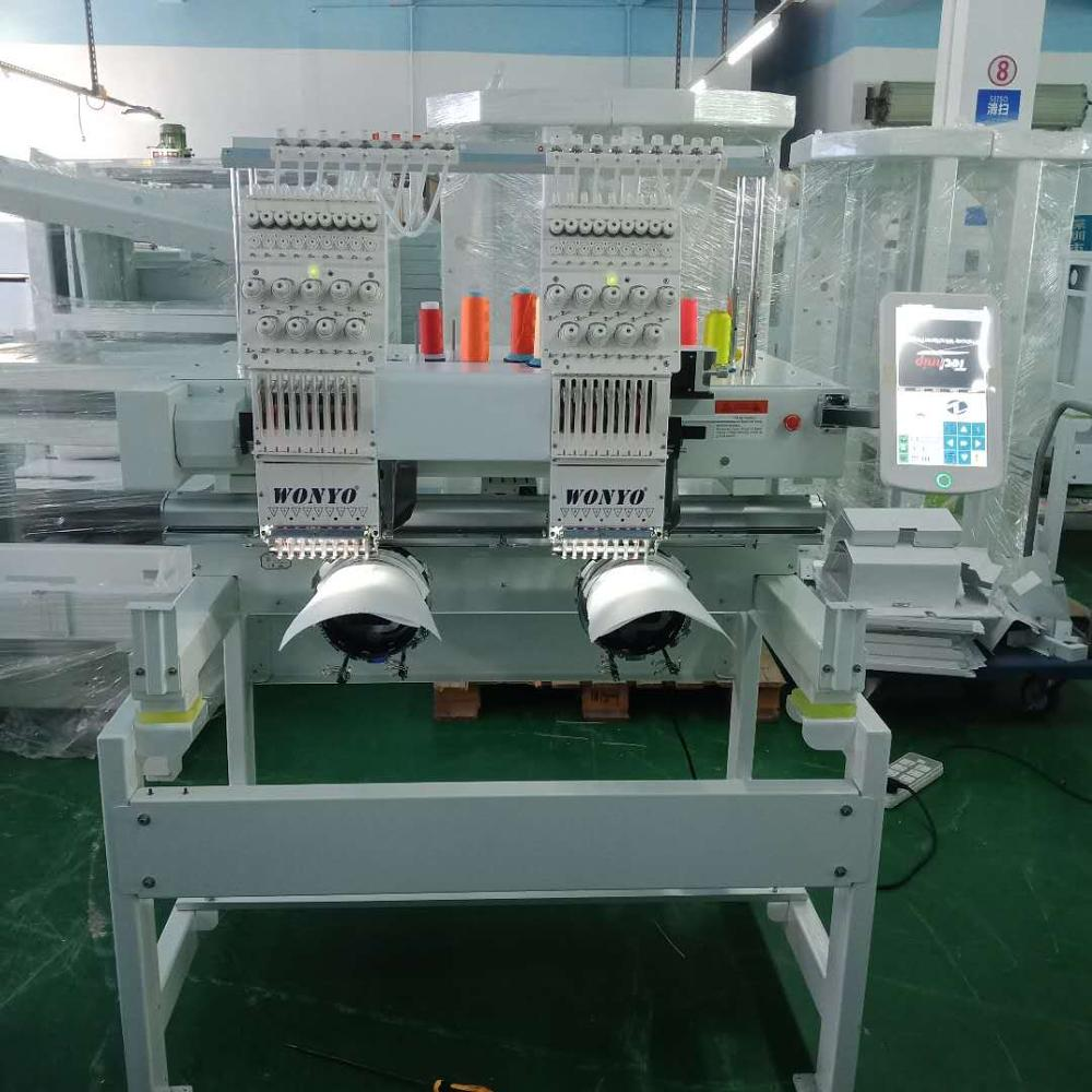 Now hot sale product 2 head computerized embroidery machine cap/flat embroidery machine Q402