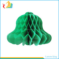 bell paper honeycomb ball for Christmas decoration