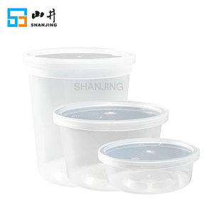 8oz 16oz 32oz microwave leakproof reusable round dishwasher safe plastic deli container with lids for food storage
