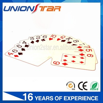 Custom printed Blank playing cards from china playing cards factory