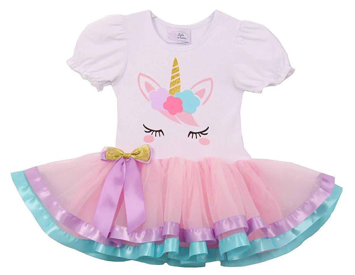 2442c35e874 Get Quotations · Dreamer P Little Girls Cute Unicorn Birthday Girl Tutu  Special Girls Tutu Dresses Size 1-