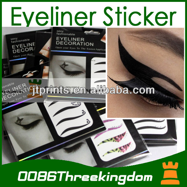 fashionable eye-liner temporary tattoo