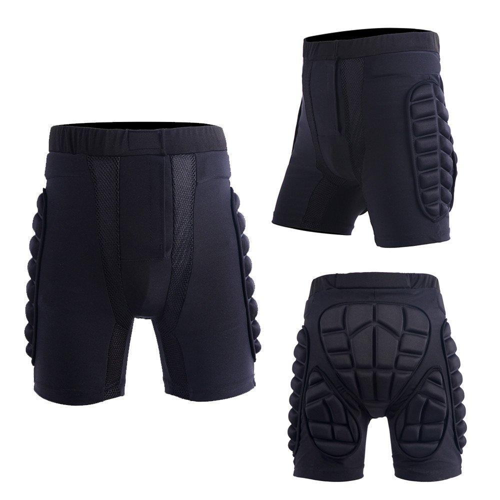 3D Padded Short Protective Hip Butt Pad Ski Skate Snowboard Skating Skiing Protection Drop Resistance Roller Compression Shorts Pants