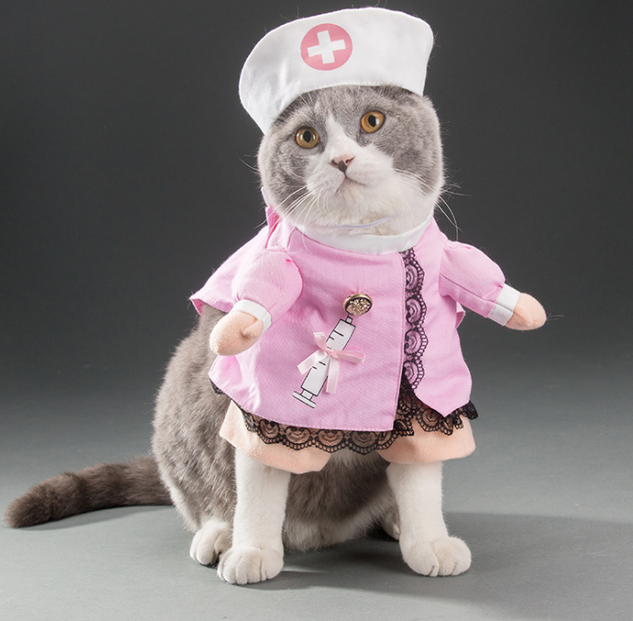 Pet Products Imported From Abroad Pet Funny Costume Dog Cat Costume Clothes Dress Apparel Doctor Suit