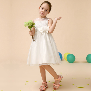 Middle length ball gown flower girl dress elegant exquisite flower dresses for wedding embellished bodycon dress