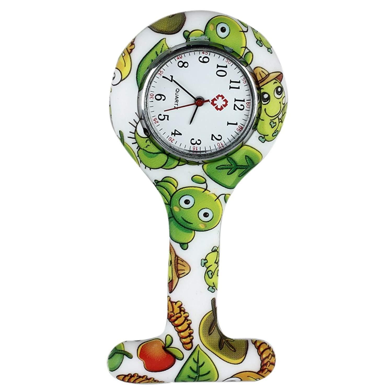 70d73b37915 Get Quotations · Pocket watch - TOOGOO(R)Silicone Quartz Watch Nurse Doctor  Brooch Pin Pliers Pocket