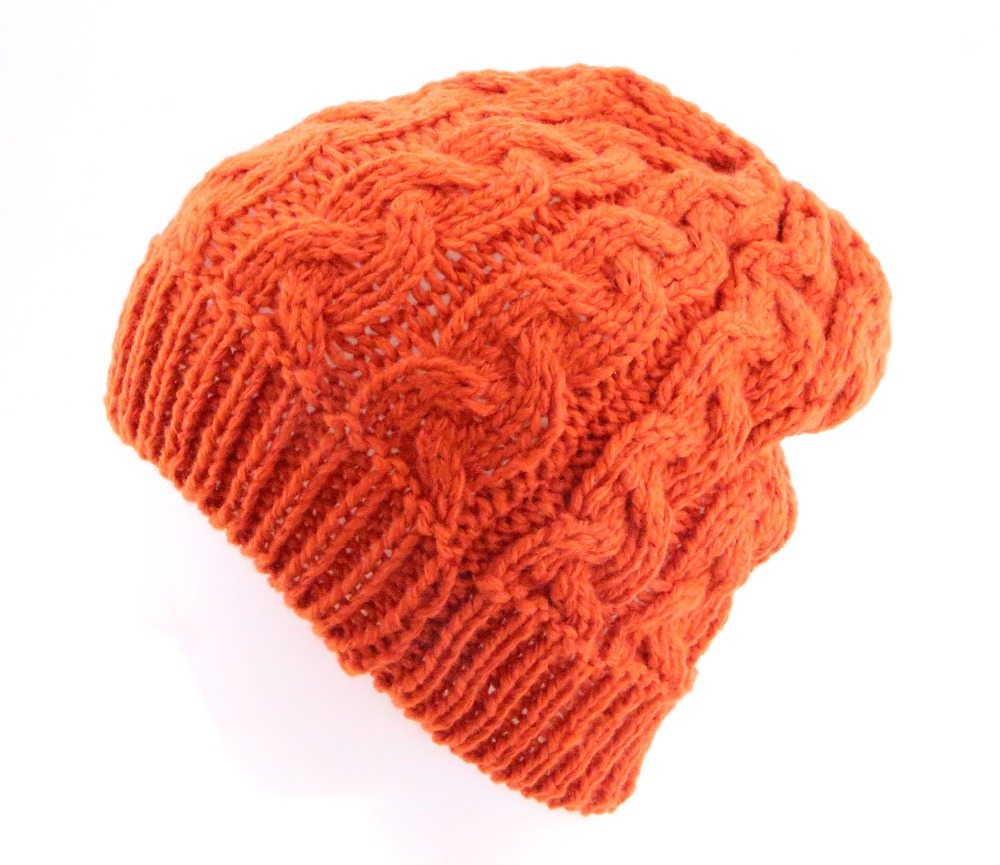 8bada32f262 Get Quotations · 2015 New Fashion 3 Color Orange Red White Fall Warm Thick Wool  Knit Gorras Womens Solid