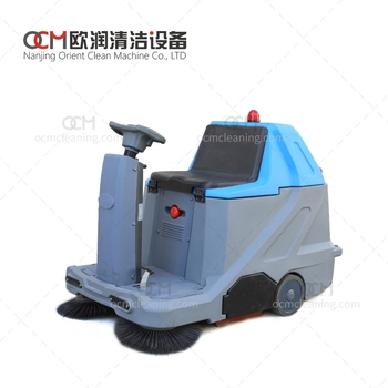 FL1000 battery type sweeping machine  electric sweeper cleaning machine mechanical driveway sweeper