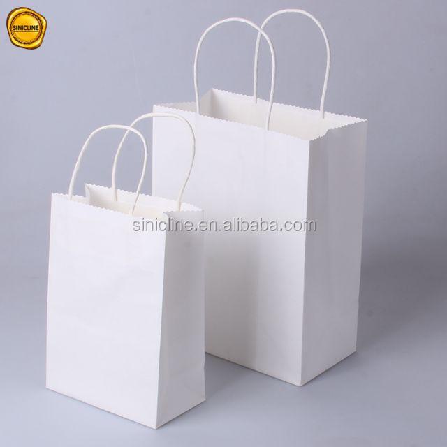 Sinicline preço barato venda quente de compras de natal sacos de papel pequeno/médio tamanho do saco de papel kraft branco