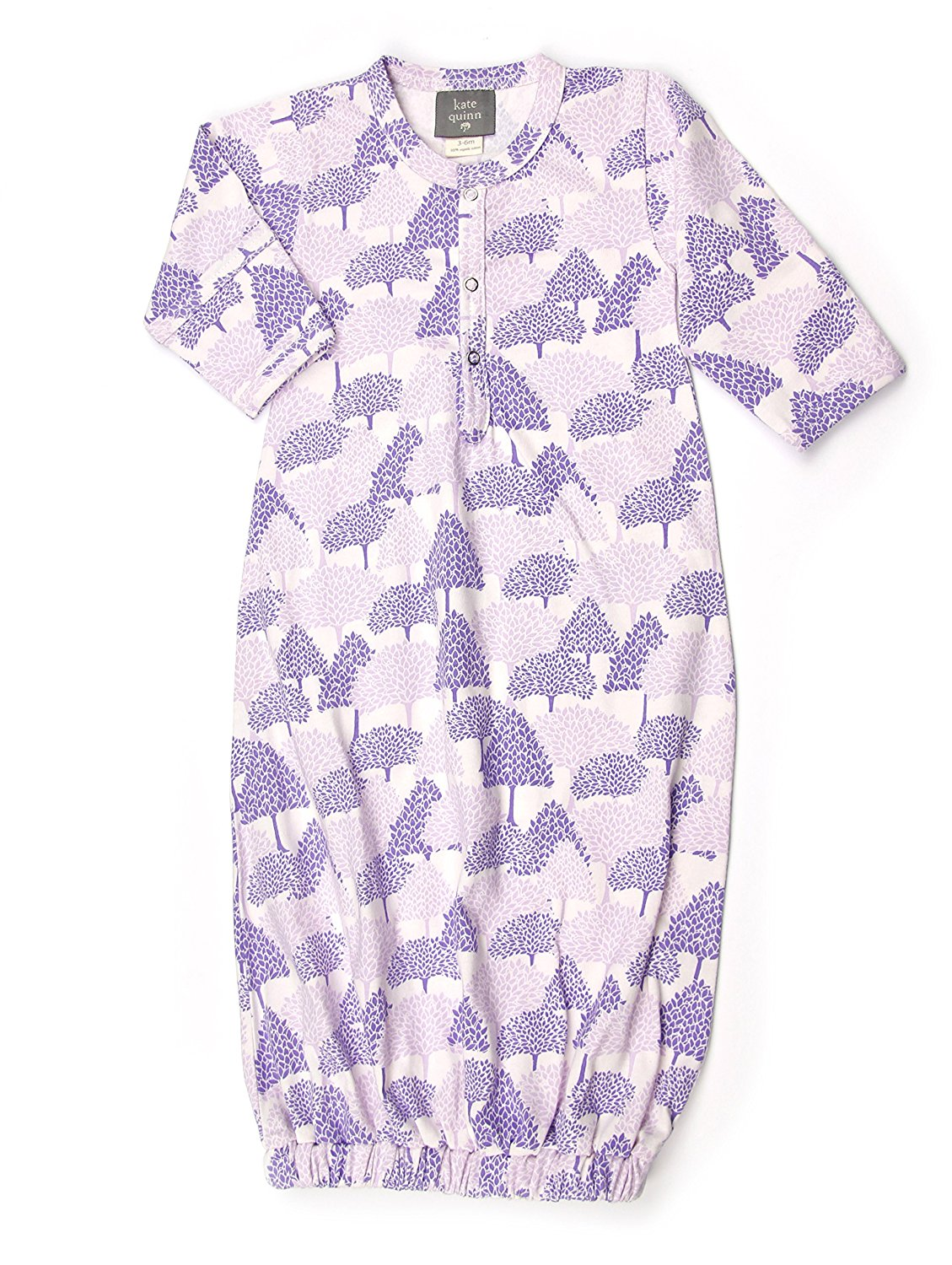 Kate Quinn Organics Unisex-baby Classic Sacque, 0-3M (Forest)