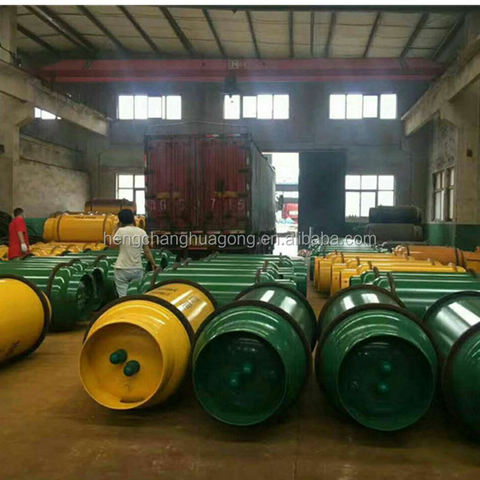 800L 400L 100L Industrial Liquid Chlorine / Ammonia Gas Seam Welding Cylinder with QF-11/10