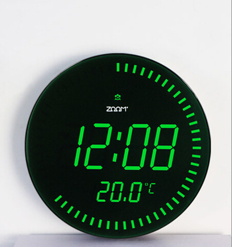 3d creative jumbo horloges grande horloge murale num rique led avec la temp rature design. Black Bedroom Furniture Sets. Home Design Ideas