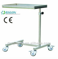 DW-HE014 Stainless steel mayo table over bed table hospital for sale