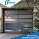 Aluminum frame frosted garage door panel
