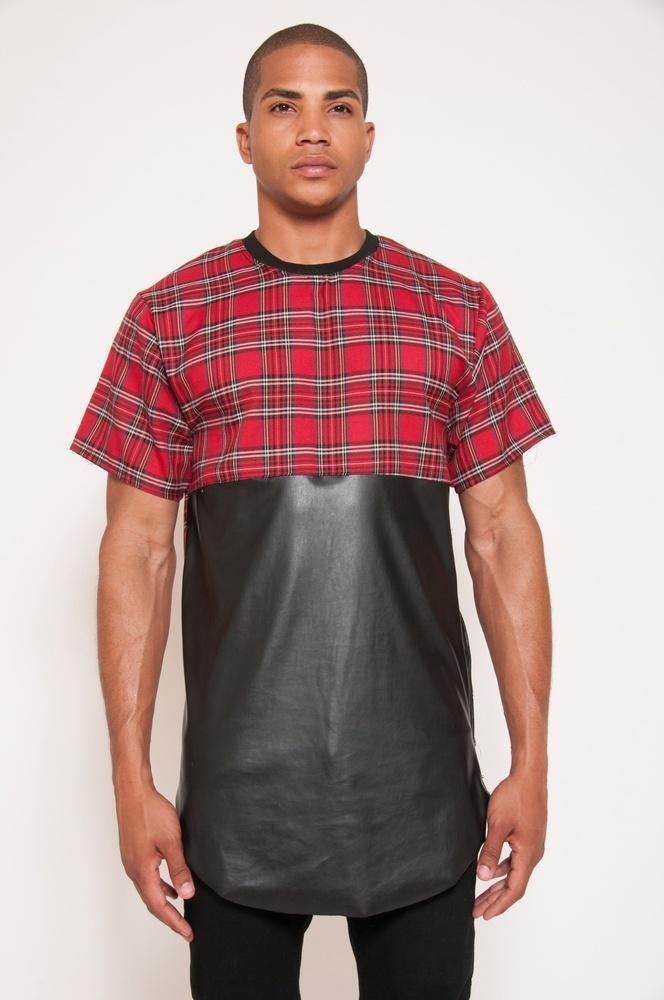 7804e0238df0 Men t shirt tyga cool oversized Gold side zipper hip hop extended t-shirt  top tees casual shirt