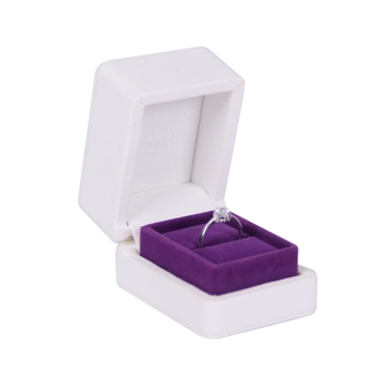 Unique Design Hinged Small Luxury Leatherette Engagement Ring Box