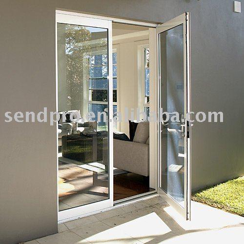 Puerta abatible de aluminio para el balc n patio puertas for Puerta balcon pvc