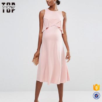 1057328d5286 Ultimo vestito di maternità disegni doppio strato rosa vestito di maternità  donne incinte